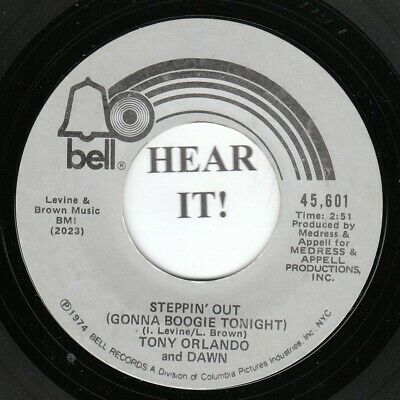 Tony Orlando & Dawn 45(Bell)Steppin' Out/She Can't Hold a ...