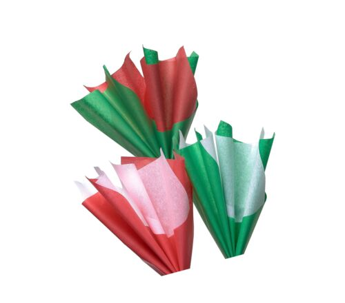 Green and White Tissue Paper 125 Sheets 125 Sheet American Greetings Red