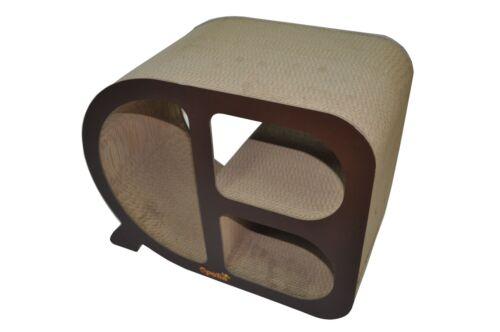 QPETS Cat Scratcher Cat Scratching Board Feline Furniture Cubby Cat Scratcher