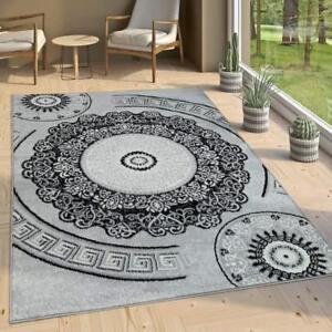 Grey Oriental Rug Mandala Design Pattern Carpet Small X Large
