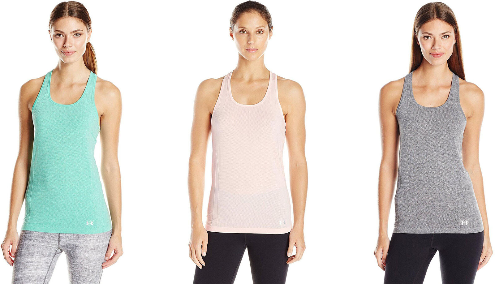 ee9be06a604aa Details about Under Armour Women s Threadborne Seamless Heathered Tank