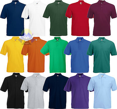 Energico Polo Da Uomo/man Fruit Of The Loom A Manica Corta S M L Xl Xxl Xxxl In 15 Colori Materiali Di Alta Qualità Al 100%