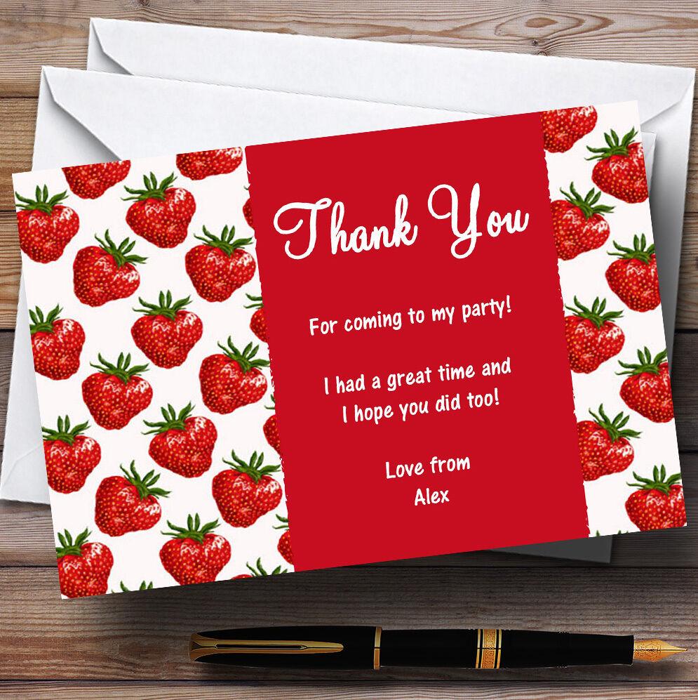 Thé vintage fraise rouge personnalisé partie cartes remercieHommes t t remercieHommes 359e74