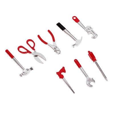 Miniature Alloy Tools set Miniature Food Play Scene Tool Set Toy Model Black