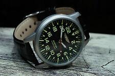 POLJOT Aviator Handuhr 24h Militär Mechanische Herren Armbanduhr