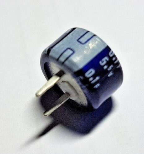 10 x DB-5R5D104 Memory Back-Up Capacitor 0.1F 5.5v Supercapacitor Elna