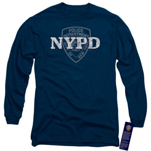 04c167af Details about NEW YORK CITY NYPD Licensed Adult Men's Long Sleeve Graphic Tee  Shirt SM-3XL