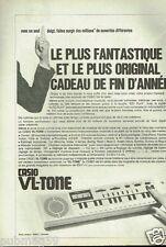 Publicité advertising 1981 Le Mini Clavier VL-Tone Casio