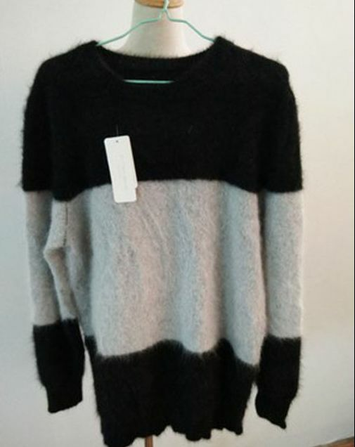 Mink cashmere striped sweater Pullover men clothing wholesale price free deliver