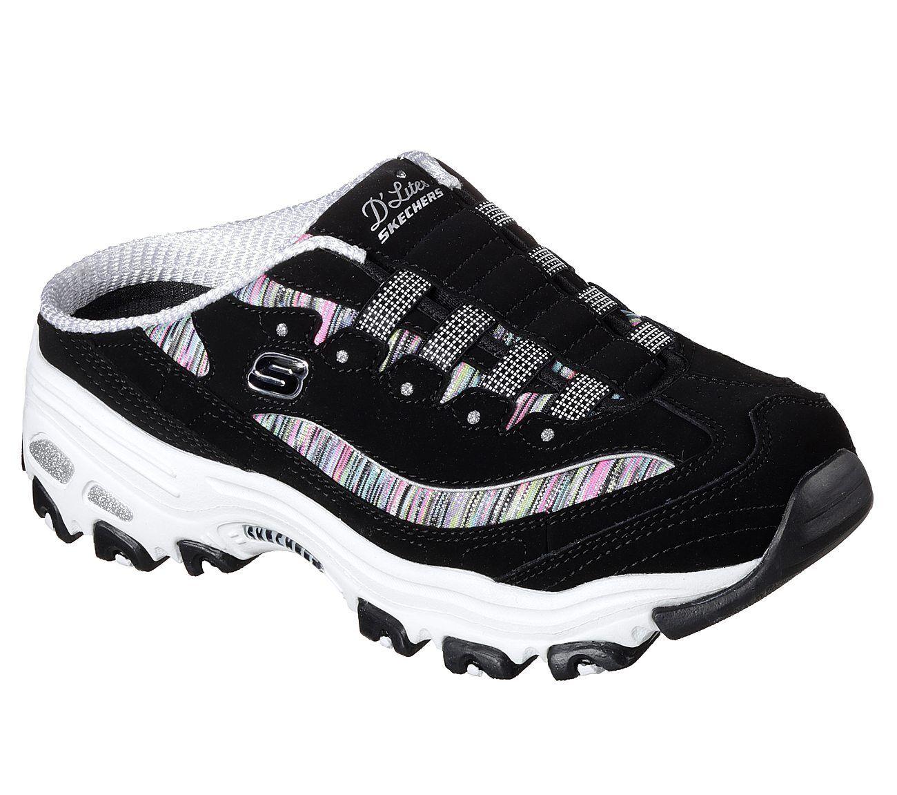 NEU SKECHERS Damen Slipper INTEREST Sneaker Memory Foam D'LITES-SPARK INTEREST Slipper Schwarz 4b65f0