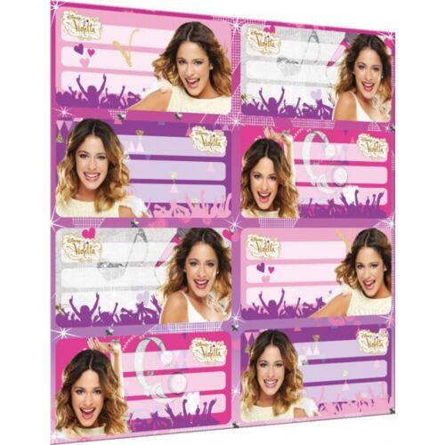 16 Stück 2x Stickerbogen Booklet Etiketten Klebeetiketten Disney Violetta Neu