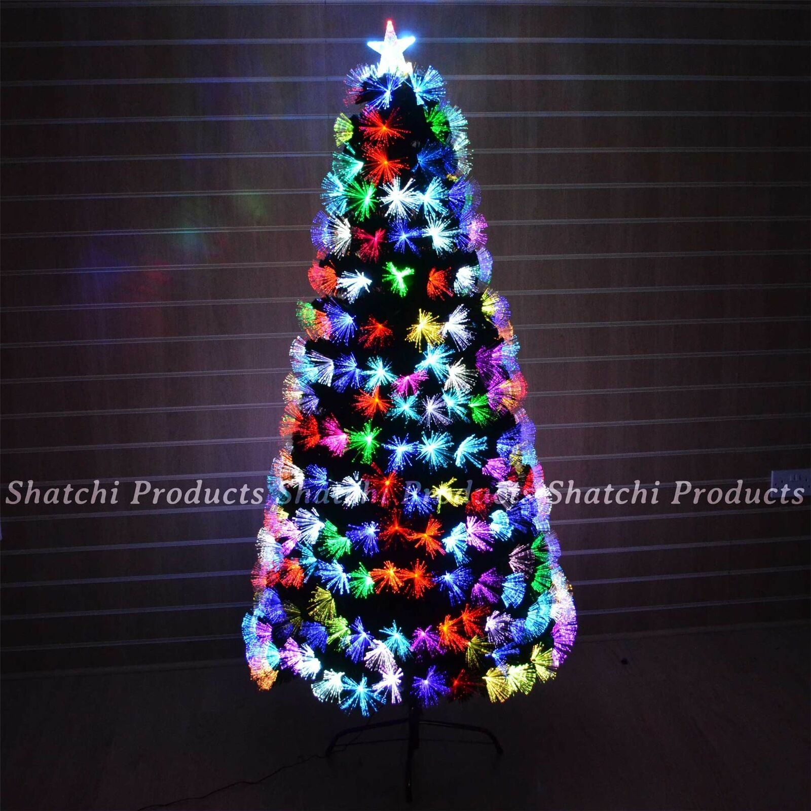 4ft Multicolour Fibre Optic Christmas Tree Pre-Lit Xmas Home Decorations 120cm
