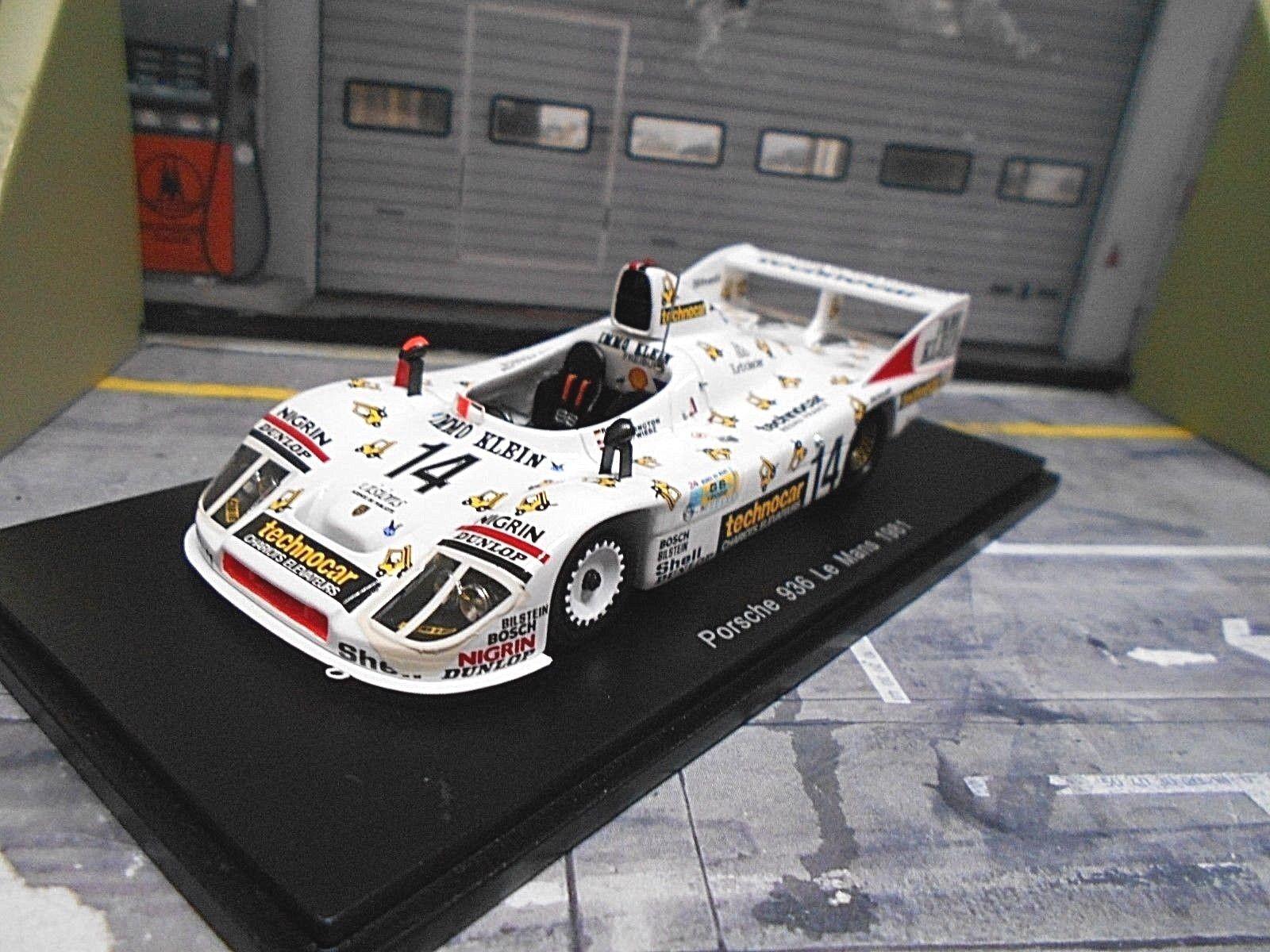 PORSCHE 908 908 80 936 JOEST Le Mans  14 Niedzwiedz immo piccoli tecnica Spark 1 43