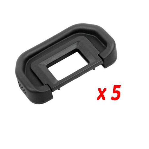 5x Copa Ocular De Caucho Tapa del ocular de Cámara para Canon Eb 70D 60D 50D 6D 5D Mark II 5D2