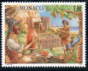 Actif Stamp / Timbre De Monaco N° 1964 ** Oeuvre De Daniel Defoe / Robinson Crusoe Brillant