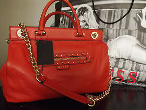 Guess Leather Large Textured Satchel