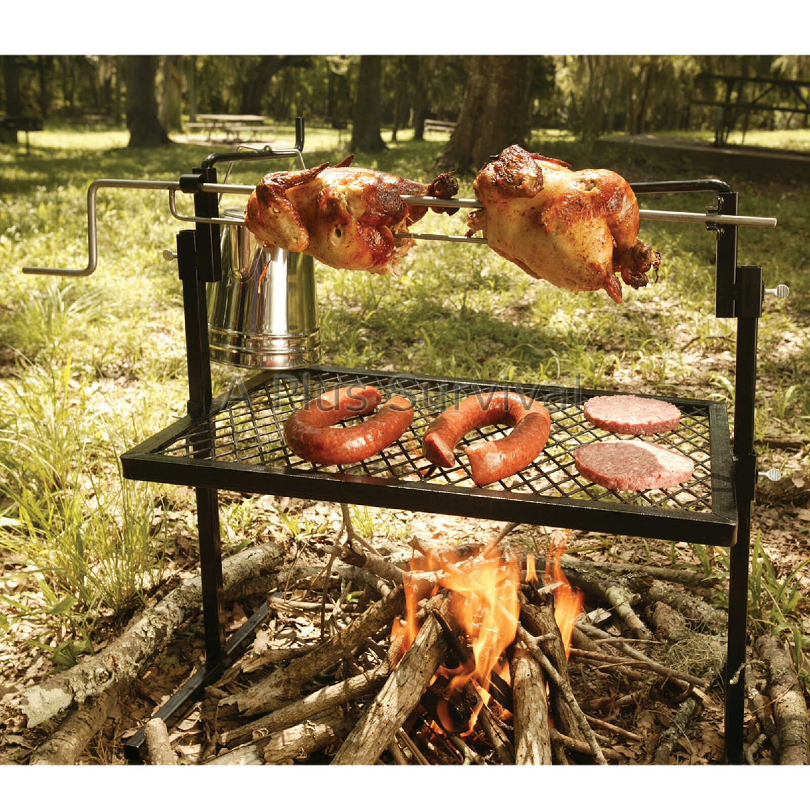 Camp Great Fire Rotisserie Grill & Spit - Great Camp for Camping 079794