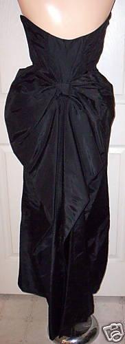 WOMEN's JESSICA McCLINTOCK VINTAGE 80's BLACK COC… - image 2