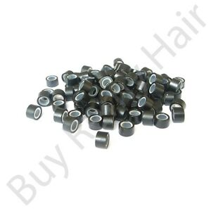 500pc-Hair-Extension-Silicone-Micro-Rings-Links-Black-5mm-easy-to-use