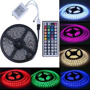 New-5M-5050-RGB-SMD-Waterproof-Flexible-led-Strip-300-LEDs-44-Key-IR-Remote
