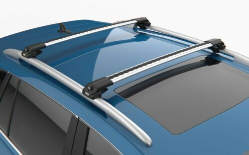 SKODA ROOMSTER Gris Verrouillable Anti Vol Barres transversales Barre de Toit Rack Rails 2006-2015