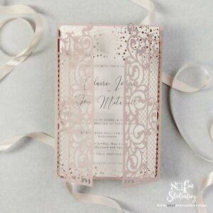 Partecipazioni Matrimonio Eleganti.Partecipazioni Matrimonio Eleganti Con Gratuito Buste Taglio Laser