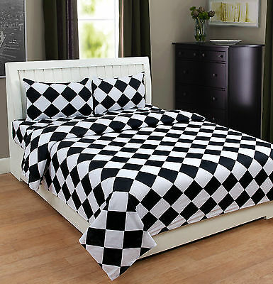 Homefabs 100% Cotton Double Bed Sheet with 2 Pillow Covers (DBS137)