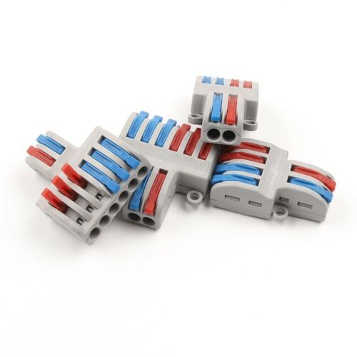 10pcs Wire Connector Mini Fast Universal Conductor Terminal Block Cable Tools