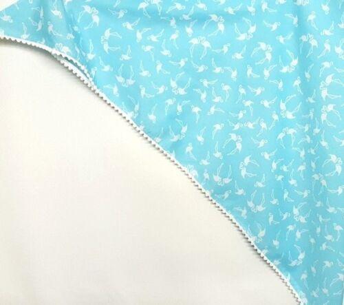 Filles Écharpe Nouveau m/&s Aqua Blanc Flamingo Grand Coton Triangle bordée