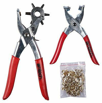 4mm 6 Punchs 2mm,2.5mm Quick Leather punching Tool 4.5mm 3mm Hole Punching Plier 3.5mm Quick Hole Puncher