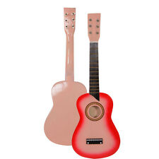 "25"" Beginners Kids Acoustic Guitar 6 String with Pick Children Kids Gift Pink"