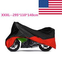 Motorcycle Cover Storage Fit Honda Suzuki Yamaha Kawasaki Harley Touring Bagger