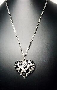 Rustic-Black-And-Silver-Heart-Pendant-With-Rhinestones-On-Silver-Chain