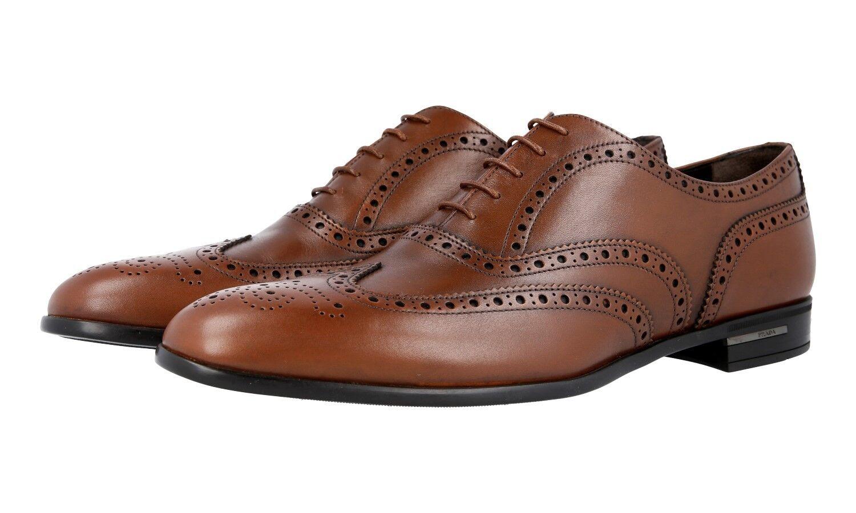 shoes PRADA LUSSO 2EC121 NOCCIOLA NUOVE FULL BROGUE WINGTIP OXFORD 11 45 45,5