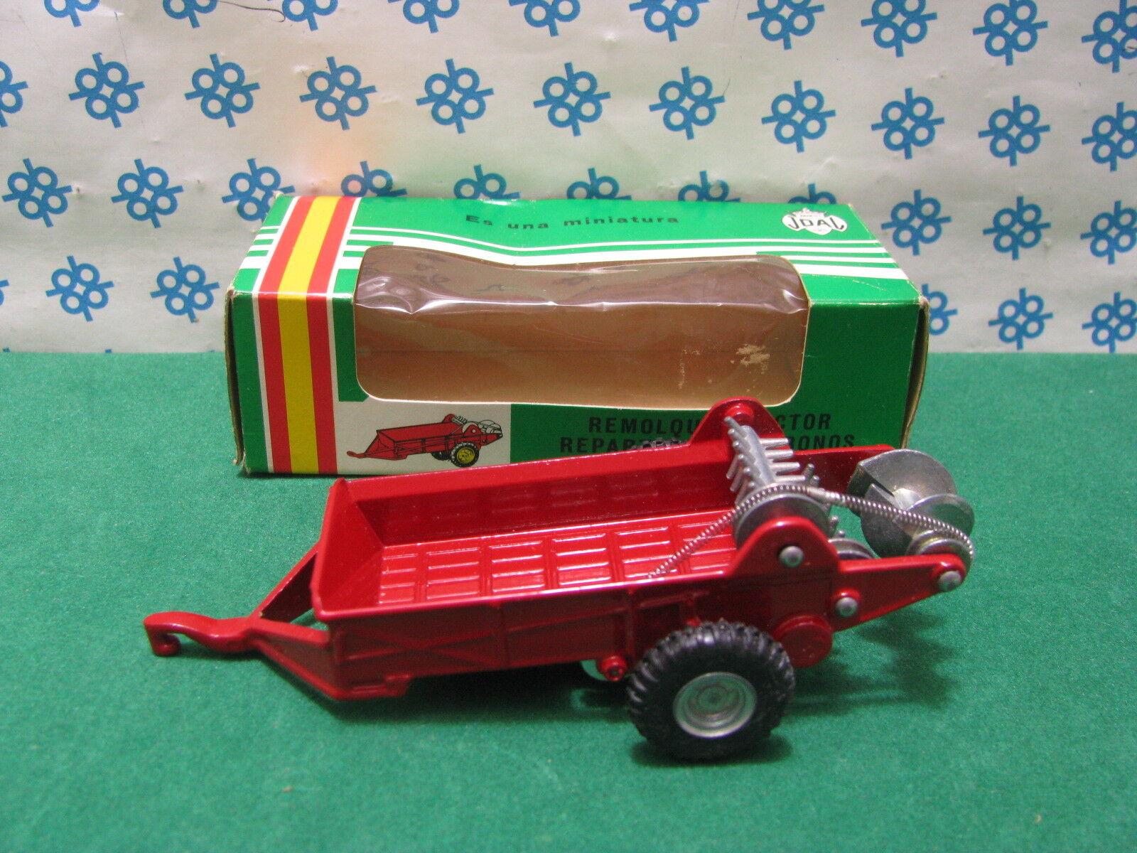 Rara vintage 1970`s - remolque repartidor de abonos-Joal ref. 204