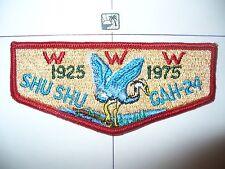 OA Shu Shu Gah 24,S-8,1925- 1975, 50th Ann Lodge,PCH,Blue Heron Flap,Brooklyn,NY