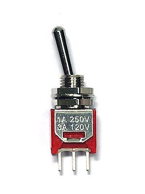 10pc Sub-Miniature Toggle Switch 2MS1T2B2M2QES On//On 3P SPDT UL Dailywell