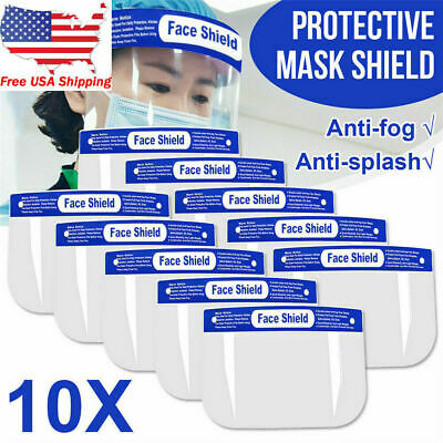 2 Pack x Safety Full Face Shield Clear Protector Anti-Splash Work Dental