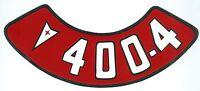 Pontiac 400-4v Air Cleaner Decal