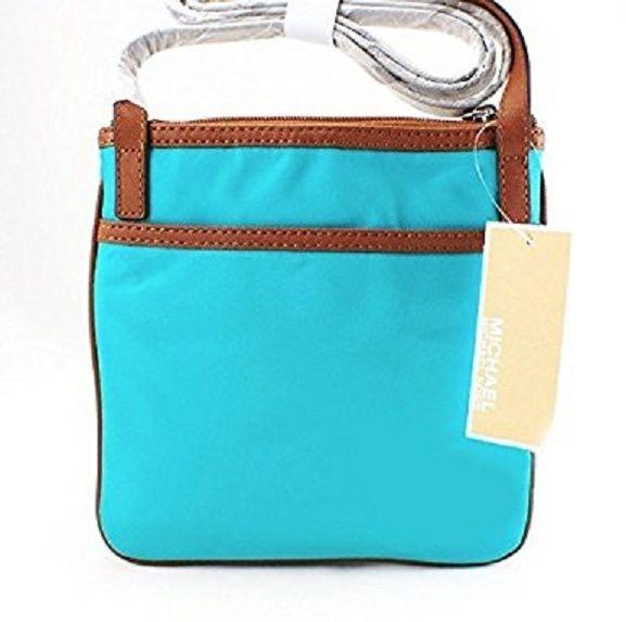 eec980b1f061 Michael Kors Kempton Aquamarine SM Pocket Crossbody Purse Bag for sale  online