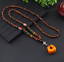 Lange-Halskette-Nepal-Boho-Anhaenger-Retro-Vintage-Holz-Handgefertigt-Perlen Indexbild 20