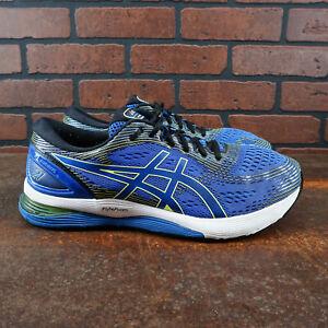 ASICS-Gel-Nimbus-21-Mens-Size-12-5-Running-Shoes-Blue-Yellow