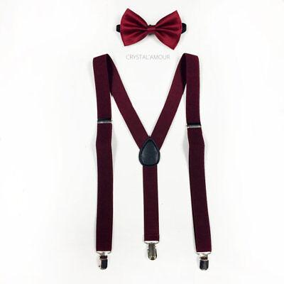 Purple Bow Tie /& Suspender Men Accessories Wedding Formal Wear Prom