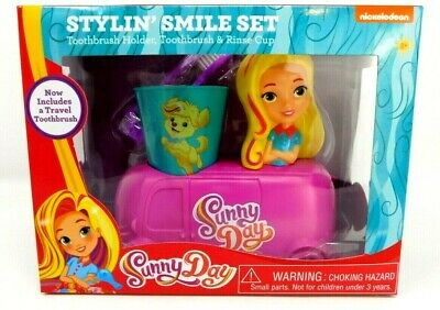 Sunny Day Stylin Smile Set Toothbrush Holder Toothbrush /& Rinse Cup