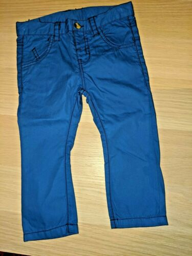 Boys Trousers Jeans Navy Blue Bottoms Pants Chinos 3 6 9 12 18 24 Months