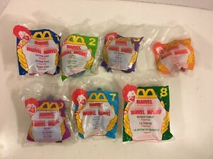 MARVEL-SUPER-HEROES-McDonalds-Happy-Meal-Toys-Near-Complete-Set-NEW-1996