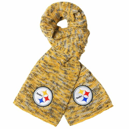 Pittsburgh Steelers Scarf Knit Winter Neck - Team Logo Warm Soft New Peak