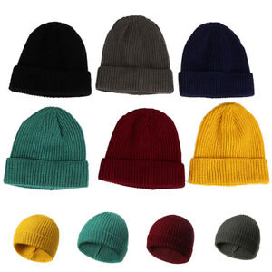 28feb5fe8ba Men Women Unisex Hat Hip-Hop Wool Knitted Ski Cap Skull Warm Winter ...