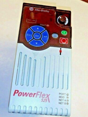 AB 25B-D1P4N104 w// 25-ENC-1 Encoder Board PowerFlex 525 0.5Hp Drive