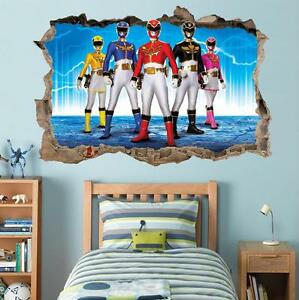 power rangers smashed wall decal removable graphic wall power rangers wall stickers power rangers wall decor